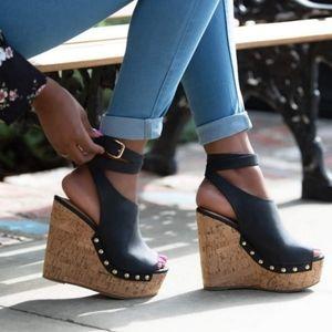 6 inch wedge heels